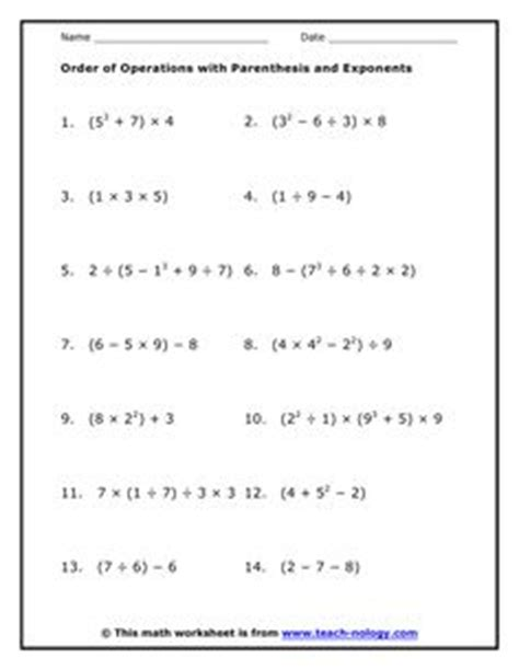 1000 images about order of operations on