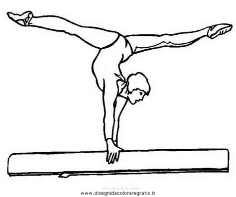 disegni di ginnastica artistica da colorare disegno ginnasta ginnastica 13 categoria sport da colorare