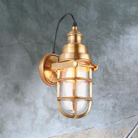 industrial brass cage wall light cl 33628 e2 contract