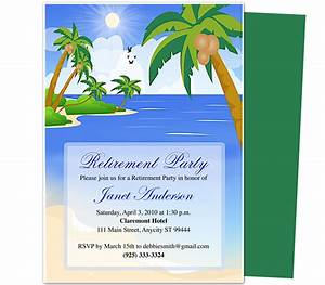 retirement templates paradise retirement party With retirement announcement flyer template