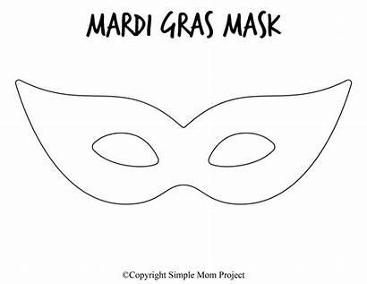 Mask Mardi Gras Printable Template Templates Diy