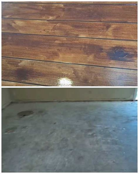 How to Make a Concrete Floor Look Like Hardwood Flooring