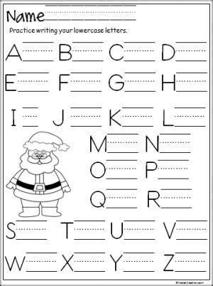 santa capital letter writing practice writing practice