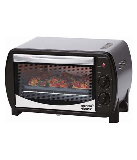 toaster oven india american micronic otg 14 litres oven toaster griller 230v