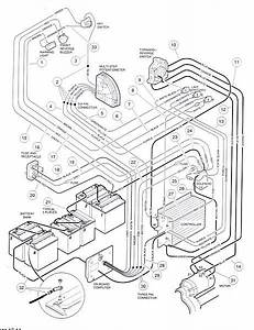 For 48 Volt Club Car Golf Cart Wiring Diagram