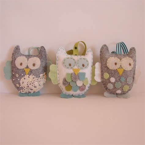 felt owl ornament owls patterns templates pinterest