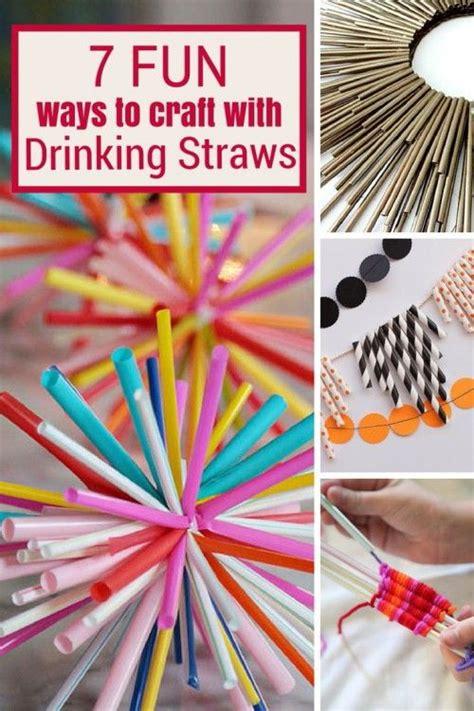 fun ways  craft  drinking straws ideas diy