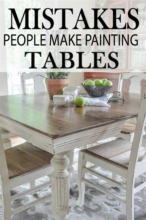 make kitchen table the 5 mistakes make while painting a kitchen table