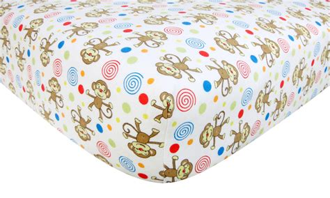 flannel crib sheets trend lab flannel crib sheet monkey baby baby