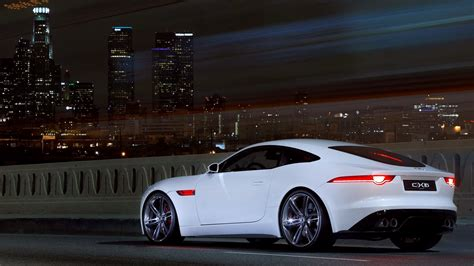 Beautiful White Car Jaguar F Type Wallpapers Hd / Desktop