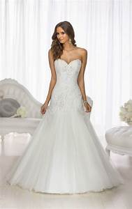 this modified a line designer wedding gown from essense of With modified a line wedding dress