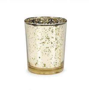 Gold Plated Glass Votives - Wedding Decor Jo-Ann