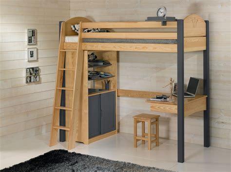 bureau de lit lit mezzanine avec bureau dcopin secret de chambre