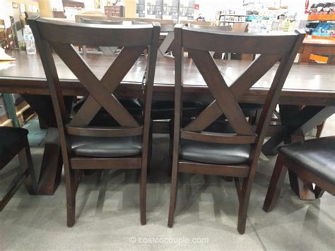 costco dining table in store bayside furnishings 9 piece dining set