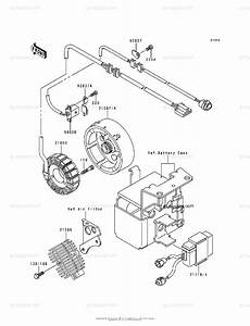 Kawasaki Atv 1988 Oem Parts Diagram For Generator