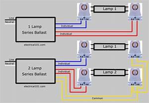 Seriesl Ballast Lampholder Wiring 3 Lamps