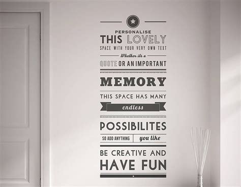 personalised quote wall sticker contemporary wall stickers