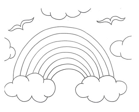 rainbow coloring pages  preschool az coloring pages
