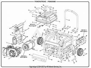 Homelite Ps903500b Powerstroke 3 500 Watt Generator Parts