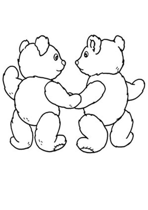 ausmalbilder zwei teddybaeren spielsachen malvorlagen