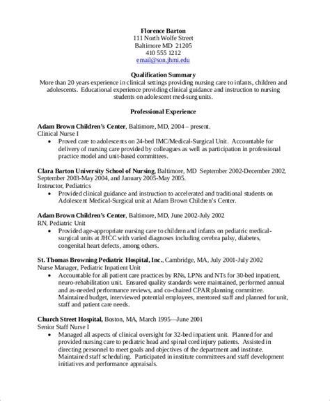sample nursing resume templates  ms word