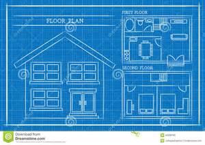 house design blueprints blueprint house plan architecture stock vector image