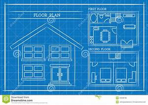 Blueprint  House Plan  Architecture Stock Vector