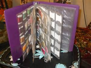 Embroidery Floss Organizer Binder