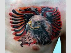 Albanian Eagle Tattoo done by Poppay Tattoo Studio