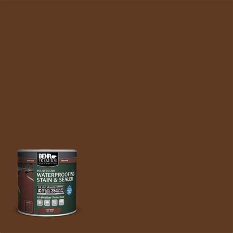 behr premium  oz sc  chocolate solid color