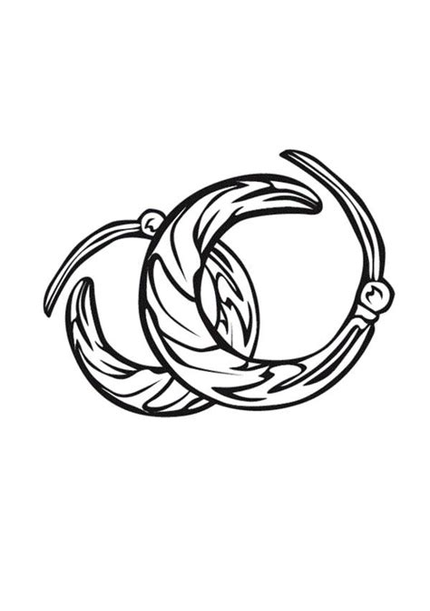 jewelry earrings coloring page coloring sky