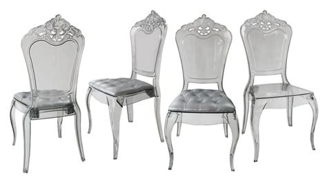 achat canape lot de 4 chaises astorga design en plexi transparent