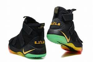 Nike LeBron Soldier 11 Black Gold Rainbow | 2017 Air ...
