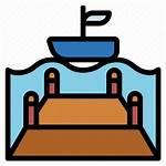 Lake Dock Pier Sea Icon Editor Open