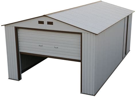 12x20 Storage Shed Kits by Duramax 12x20 White Metal Storage Garage Building Kit 50931