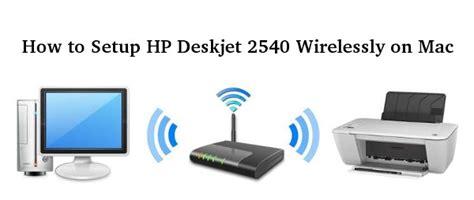 setup hp deskjet  wirelessly  mac howtosetupco
