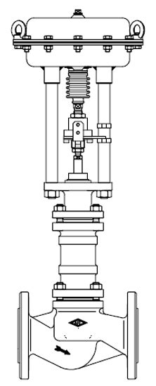 446 Straightway Control Valve with Pneumatic Actuator DP