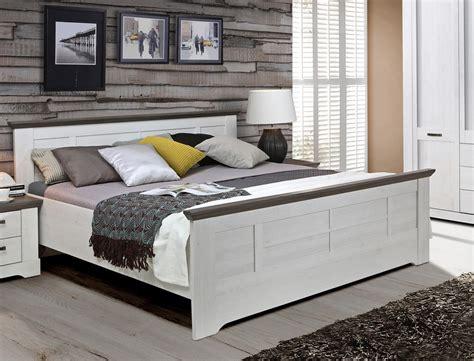bett landhausstil 180x200 bett 180x200 cm wei 223 grau schneeeiche doppelbett komfortbett landhausstil gaston ebay