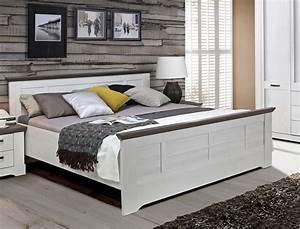 Modernes Bett 180x200 : bett gaston 180x200 cm schneeeiche weiss grau komfortbett doppelbett wohnbereiche schlafzimmer ~ Watch28wear.com Haus und Dekorationen