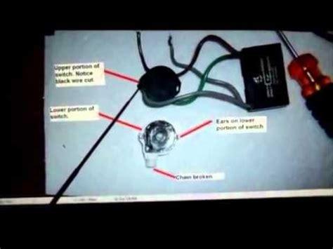 ceiling fan 4 wire switch repair
