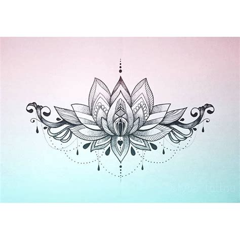 lotus mandala underboob tattoo buscar  google tats