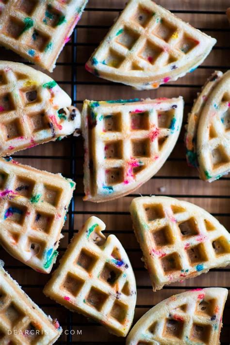 A fun, memorable activity will provide memories to last a lifetime and it's much better than a party and a. Cake Batter Birthday Waffles - Festive Funfetti Cake Mix Waffles!