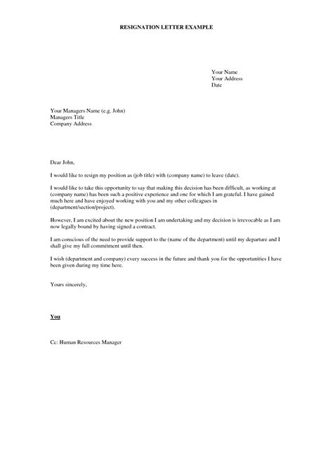 Resignation Letter Template | IPASPHOTO