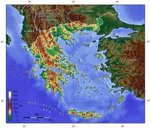 Greece Topographical Map