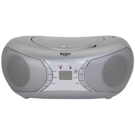 bluetooth cd player bush bluetooth cd player radio boombox silver cd