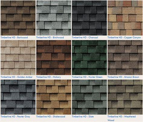 timberline shingles color chart roofing calculator estimate your roofing costs