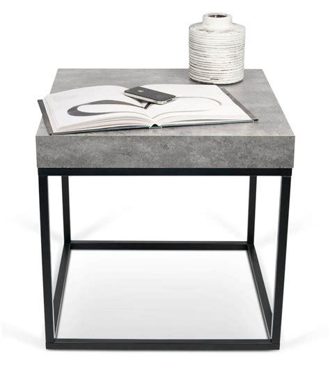 coussin poudré 6839 grande table d appoint effet beton 55 cm pastel living