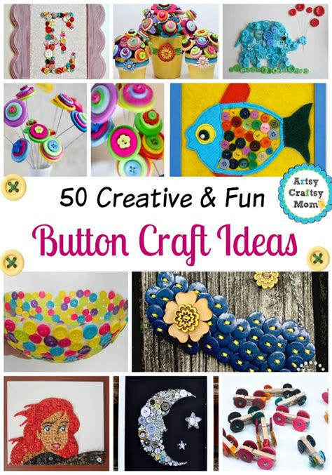buttons craft ideas 50 creative and button craft ideas artsy craftsy 1198