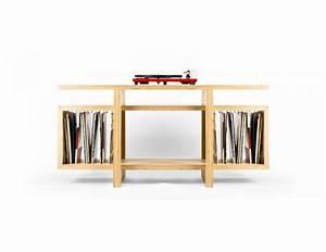 Meuble Pour Vinyle : meuble rangement vinyles en multiplis de bouleau ~ Teatrodelosmanantiales.com Idées de Décoration