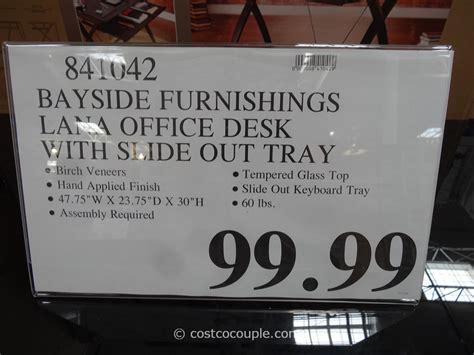 Bayside Maren Computer Desk by Desk With Glass Top At Costco Hostgarcia